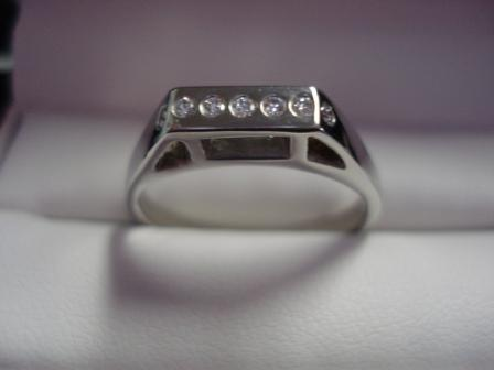 Custom 14kt White Gold Wedding Band