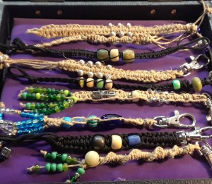 Beaded Bracelets and Keychains